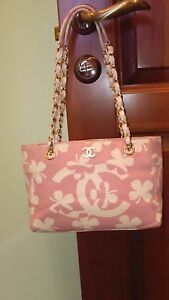 AUTHENTIC CHANEL SHOULDER BAG PINK VINTAGE