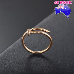 Wholesale Yellow Gold/Rose Gold Plated Adjustable Nail Band Ring