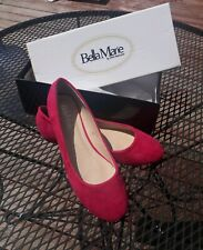 Bella Marie Suede Daze Flats by DND Fashion in Fuchsia Pink Size 8