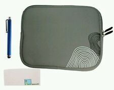 "LLAMAMIA 10"" TABLET LAPTOP SLEEVE CASE BAG FOR IPAD OR NETBOOK GREY CORNER ZEBRA"