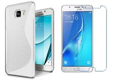 CLEAR S-LINE TPU CASE + CLEAR SCREEN PROTECTOR FOR SAMSUNG GALAXY J7 PRIME