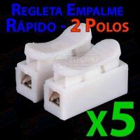 Regleta Empalme Rapido 2 polos 5A 250v - Lote 5 unidades - Arduino Electronica D