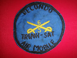 "US RECONDO AIRMOBILE 5th Sq. 6th CAVALRY ""TRINH SAT"" Vietnam War Hand Made Patch"