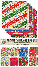 "Paper 24sh 6""x6"" # it's Christmas Time # Flonz 038 Craft Scrapbooking Santa"