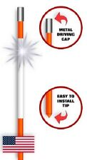 12 Driveway Snow Road Reflective Markers Poles 48 inch
