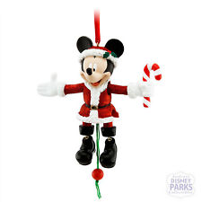 Authentic Disney Parks Mickey Mouse Pull String Ornament Glitter Christmas