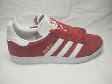 Adidas Gazelle Red White 3 Stripe Suede Sneakers Size  Mens US 8
