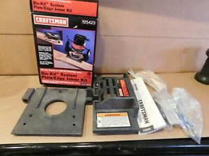 NEW IN BOX CRAFTSMAN BISKIT BISCUIT ROUTER JIG SYSTEM PLATE/EDGE JOINER KIT