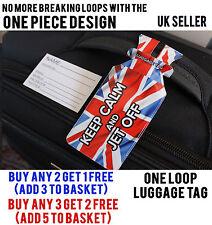 Keep Calm Union Jack Viajes, Vacaciones Bolsa Equipaje Etiquetas Maleta Nombre ID Etiqueta