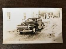 Vintage Photo Nice Old Car NY plates Woman Rt. 371 Damascus Pa. B&W