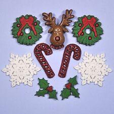 DRESS IT UP Embellishments Deck The Halls 0266 - Reindeer Snowflakes Christmas