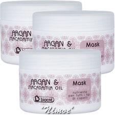 Hydrating Mask 3 x 250ml Argan & Macadamia Biacrè ® Nourishing, moisturising