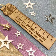Personalised Teacher Gift Oak Ruler Bookmark Thank You Leaving Present Gifts