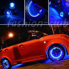 Universal LED Blue Color Light Auto Bicycle Wheel Tire Valve Cap Bulb Decoration