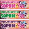 2 x personalized birthday banner party My Little Pony boys girls any name ages
