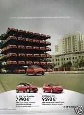 Publicité advertising 2007 Citroen C1 et C2 Slalom