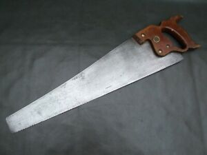 "Vintage 20"" panel hand cross cut saw old tool D-8 by Henry Disston & Sons"