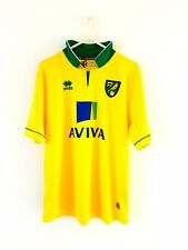Norwich City Home Camicia 2012. Taglia 40 (XS, Y). ERREA. GIALLO Adulti Football Top