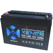 XENES ECO-Line 12V LiFePO4 150Ah Smart-BMS Lithium Versorgung Batterie Akku