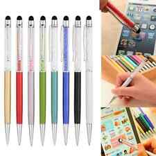 2-in-1 Crystal Touch Screen Stylus Write Pen For iPhone iPad Tablet Samsung HTC