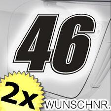 2x Startnummer Rennnummer für Motorrad Auto u. Roller