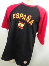 Mens ESPANA SPAIN SOCCER T SHIRT sz XL X LARGE red black jersey CLEAN