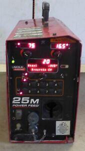 2012 Lincoln PowerFeed 25M MIG Welder Suitcase Wire Feeder PowerWave Pulse