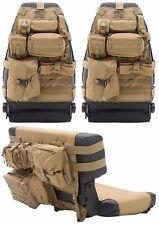 Smittybilt Coyote Tan Front/Rear Seat Covers & 19 Pouches 76-06 Jeep Cj Yj Tj Lj