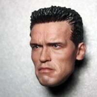 1/6 Scale Arnold Male Head Sculpt Model Fit 12'' Phicen Male Action Body Doll