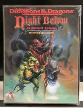 AD&D Dungeons & Dragons Night Below An Underdark Campaign Box Set TSR Sealed Box