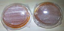 VW Bus Type 2 GENUINE Turn Signal Light Lenses 2pcs pair Logo VOLKSWAGEN 63-67