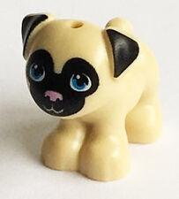 LEGO NEW Friends TAN PUG DOG Animal Pet Shop Puppy cute beige Minifig Figure