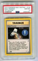 PSA 10 Gem Mint Pokemon 1st Edition Neo Destiny Heal Powder Common (104/105)