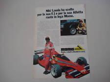 advertising Pubblicità 1978 NIKI LAUDA e MOMO