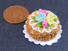 1:12 Scale Cake With Chocolate Icing Dolls House Miniature Bakery Accessory NC74