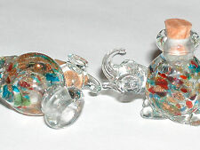 1pc Real Murano Glass ball Crystal Elephant essential oil perfume bottle cork nw