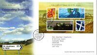 30 NOV 2006 CELEBRATING SCOTLAND MINIATURE SHEET ROYAL MAIL FIRST DAY COVER SHS