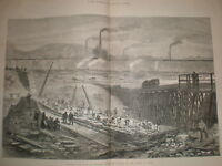 New East Dock at Swansea and harbour and Docks 1881 prints and article