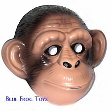 Chimp/Monkey Plastic Face Mask - Fancy Dress Accessory
