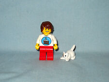 LEGO HAPPY BIRTHDAY MINIFIGURE, MINIFIG, & CROUCHING KITTEN, KITTY,NEW