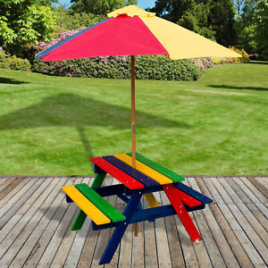 Large Kids Childrens Picnic Bench Table Outdoor Garden Furniture Patio Barbecue