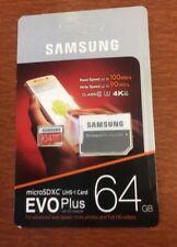 Samsung EVO Plus 64GB micro SD SDHC  memory card Upto 100MB/S +Adapter