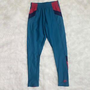 Vintage Nike International Colorblock Nylon Spandex Women's Leggings Teal 1980s