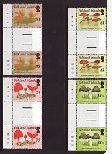 FALKLAND ISLANDS  QEII FUNGI Gutter pair SET 2014 Superb MNH