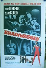 "Brainwashed 1961 27 X 41 original  movie poster linen ""Zone of Fear."""
