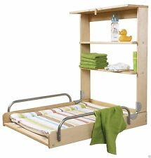 Baby Diaper Changing Table with Baby Mattress Foldable Beech Color Practical New