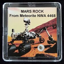 AUTHENTICATED MARTIAN METEORITE- Deluxe 12mg Mars Rock Art Display with Easel  r