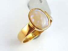 Ring Damen boho bohemian Opal Edelstein – 585 Gold Gelbgold - #8**