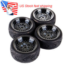 4pcs 12mm Hub Wheel Rims & Rubber Tires for RC 1/10 on-road Touring Racing Car