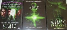 MIMIC 1, 2 & 3: Killer Cockroach-Mira Sorvino NEW 3 DVD